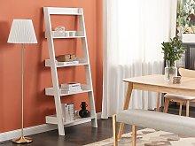 5-Tier Ladder Bookcase White Book Shelf Display
