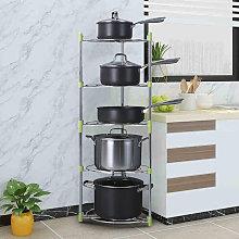 5 Tier Saucepan Frying Pan Pot Storage Rack Shelf
