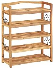 5-Tier Shoe Rack 64x26x80 cm Solid Acacia Wood -