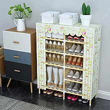 5 Tier Shoe Rack, Simple Solid Wood Cabinet, Shoe
