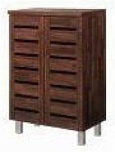 5 Tier Shoe Storage Cabinet 2 Door Cupboard Stand