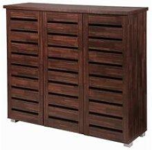5 Tier Shoe Storage Cabinet 3 Door Cupboard Stand