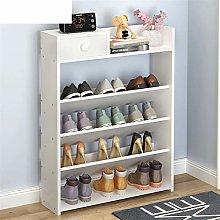 5-Tier Wood Storage Shoe Rack Cabinet Hold Free