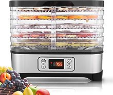 5-Tray Electric Food Dehydrator with Temperature