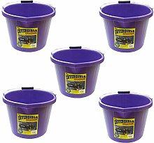 5 X Airflow Heavy Duty Invincible Builders Bucket