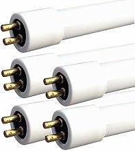 5 X Leyton 10w T4 fluorescent tube warm white