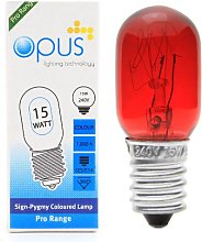 5 x Opus 15W Pygmy Red Coloured Display Sign Light