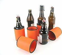 5 x Orange Drinks Cooler - Bottle Cooler for Short