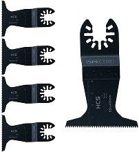 5 x Oscillating HCS 65mm x 40mm Plunge Cut Multi
