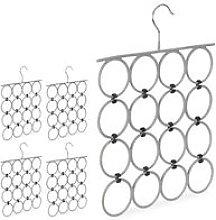 5 x Scarf Hanger, Folding Holder for Ties & Belts,