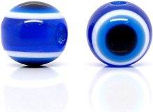 50 Blue Evil Eye Acrylic Resin 10mm Beads J10125V