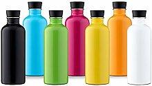 50 BOTTLES Insulated Bottle, Yellow, 42 oz