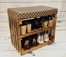 50 cm Shoe Rack Storage with Upholstered Seat