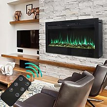 50 Inch Electric Fireplace Wall Mounted Electrical