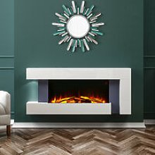 50 inch Large LED Fireplace Electric Heater Fire