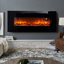 50 inch LCD Fireplace Electric Heater Remote Timer