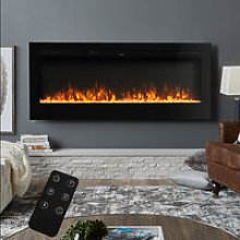 50 Inch LED Electric Fireplace Wall Mounted Wall