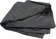 50 Large Black Plastic Polythene Wheelie Bin
