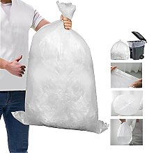 50 Large Strong Clear Bin Bags Plastic Polythene