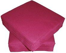 50 Linen Feel Luxury Burgundy Paper Napkins