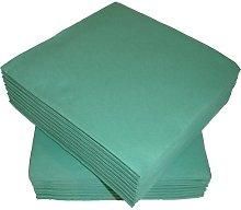 50 Linen Feel Luxury Green Paper Napkins