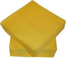 50 Linen Feel Luxury Yellow Paper Napkins