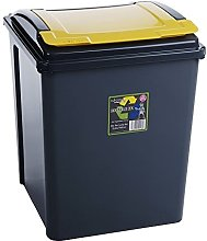 50 Litre Recycling bin (Single, Yellow)