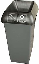 50 Litre Recycling Bin With Black & Battery Logo