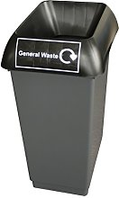 50 Litre Recycling Bin With Black Lid & General