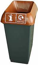 50 Litre Recycling Bin With Brown Lid & Kitchen