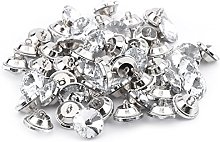 50 Pcs Crystal Buttons Rhinestones Sew Buttons