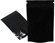 50 Pcs Metallic Foil Mylar Stand Up Pouches Zipper