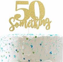 50 Someting Cake Topper, Happy 50th Birthday