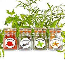 50 Washable Plastic Herb and Spice Jar Labels.