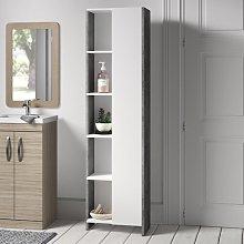 50 x 180cm Free Standing Tall Bathroom Cabinet