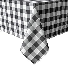 50 x 80 Inch Checkered Tablecloth Rectangle -