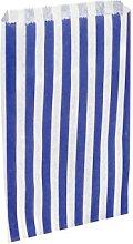 50 x Dark Blue & White Candy Stripe / Striped