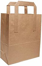 50 X Large Kraft Paper Brown SOS Food Carrier Bags