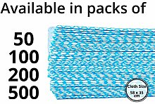 500 Large Multi Purpose Blue Disposable Cleaning