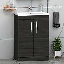 500mm Floor Standing Bathroom Vanity Unit Mid Edge