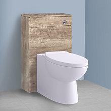 500mm Light Oak Effect Back To Wall Toilet Cistern