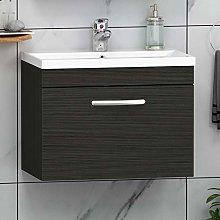 500mm Wall Hung Bathroom Vanity Unit Mid Edge