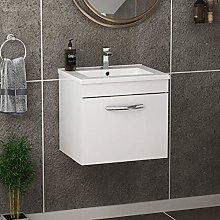 500mm Wall Hung Bathroom Vanity Unit Minimalist