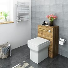500mm Walnut Bathroom Furniture Back to Wall