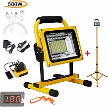 500W 8000Lm Telescopic Led Floodlight, Work Site