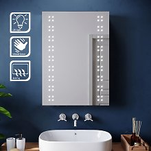 500x700mm Illuminated LED Mirror Cabinet Stainless