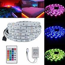 5050 SMD LED Strip Lights, Waterproof 5M RGB 150