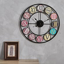 50CM Round Large Metal Painting Wall Clock