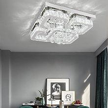 50CM Square LED Crystal Chandelier Pendant Ceiling