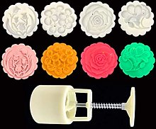50g Mooncake Mould with 4 Flower Stamps Bakeware